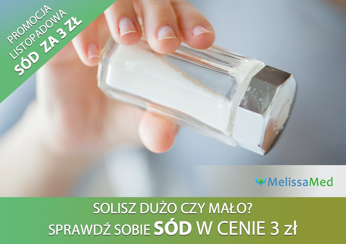 Poradnia MelissaMed - promocja na badanie Sodu